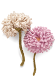 Pom-Pom Chrysanthemum Knitted Flower