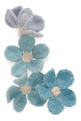 Forget-Me-Not Knitted Flower