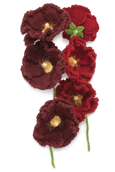 Hollyhock Knitted Flower
