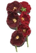 Hollyhock Knitted Flower