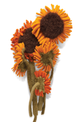 Sunflower Knitted Flower