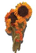 Sunflower Knitted Flower