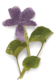 Wood Violet Knitted Flower